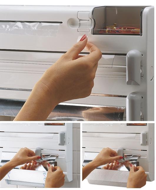 Porta rotolo portarotolo a parete scottex lgv shopping - Portarotolo cucina verticale ...