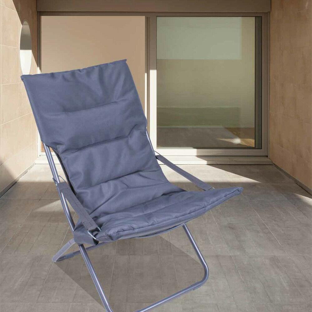 Sedie Sdraio Pieghevoli Alluminio.Sedia A Sdraio Pieghevole Canapone Blu Lgv Shopping