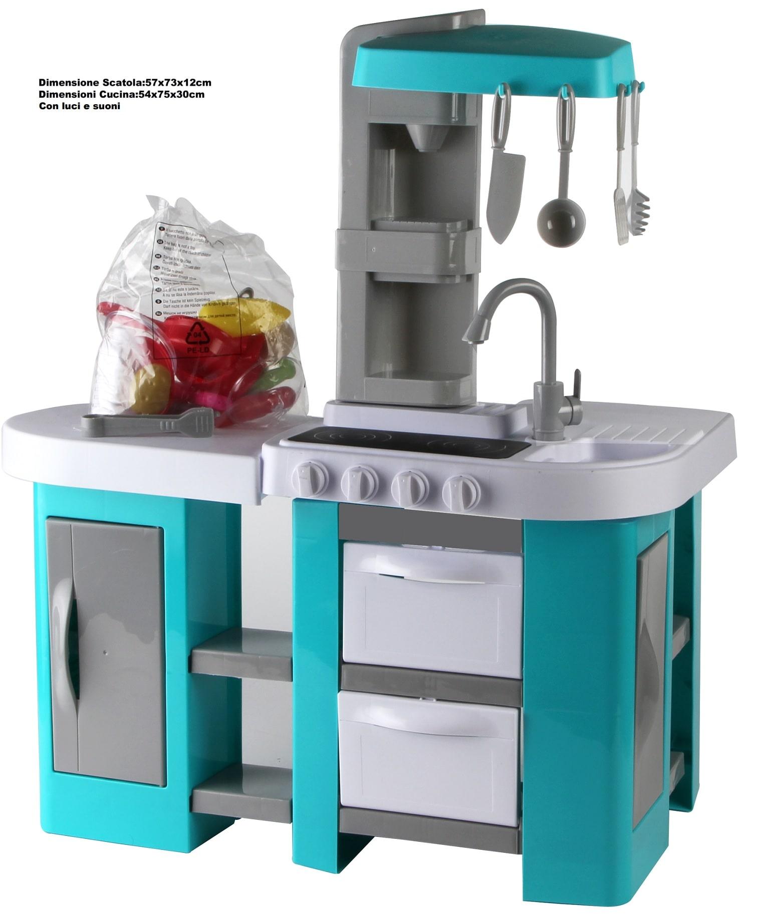 Cucina Giocattolo My Chef Per Bambini Azzurro | LGV Shopping