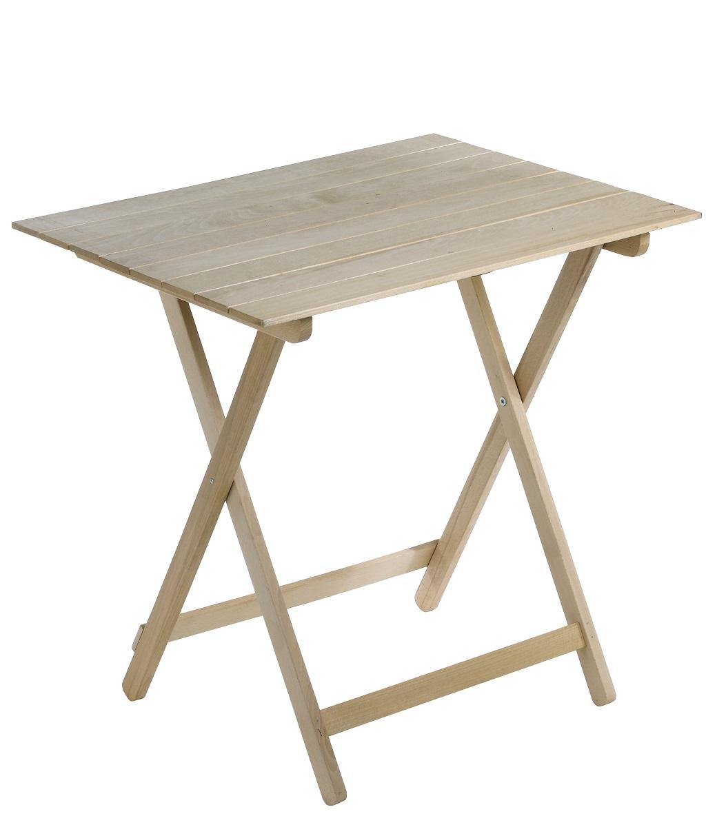 Tavolino Tavolo Pieghevole 60x80x75h In Legno Faggio Naturale Richiudibile Ebay