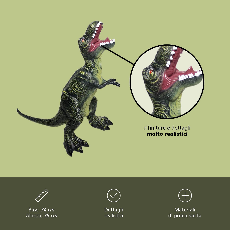 Dinosauro Gigante Altezza 47 cm In Gomma Dinosauri Giocattolo Per Bambini