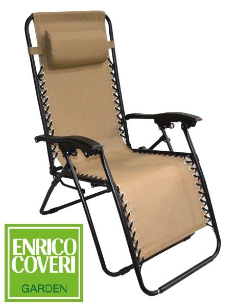 Sedia A Sdraio Con Poggiapiedi.Sedia Sdraio Relax Reclinabile Gravita Zero Beige Lgv Shopping