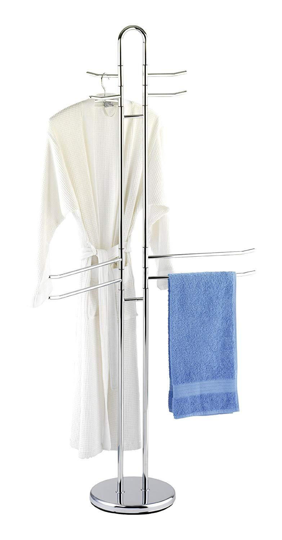 Appendi Accappatoio Da Terra piantana stand appendiabiti porta asciugamani in acciaio inox 8 bracci  abiti | lgv shopping