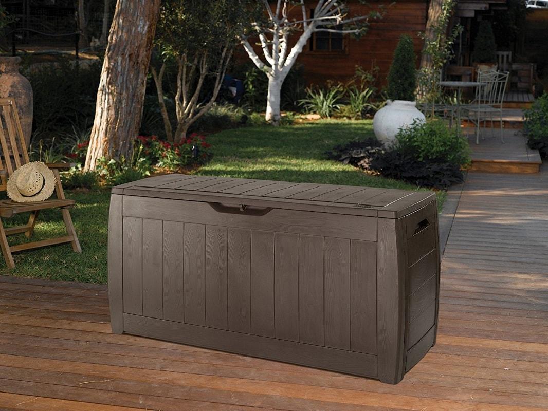 Panche Da Giardino In Resina.Chest Trunk Resin Cash Bench Garden Wood Effect Hollywood Ebay