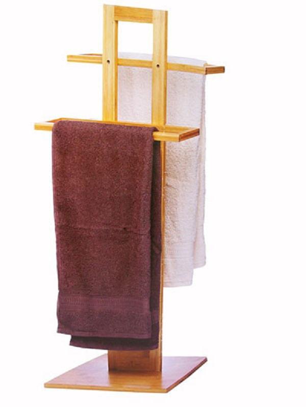 Porta Asciugamani Per Bagno In Legno.Porta Asciugamani Da Terra In Legno Bamboo Lgv Shopping