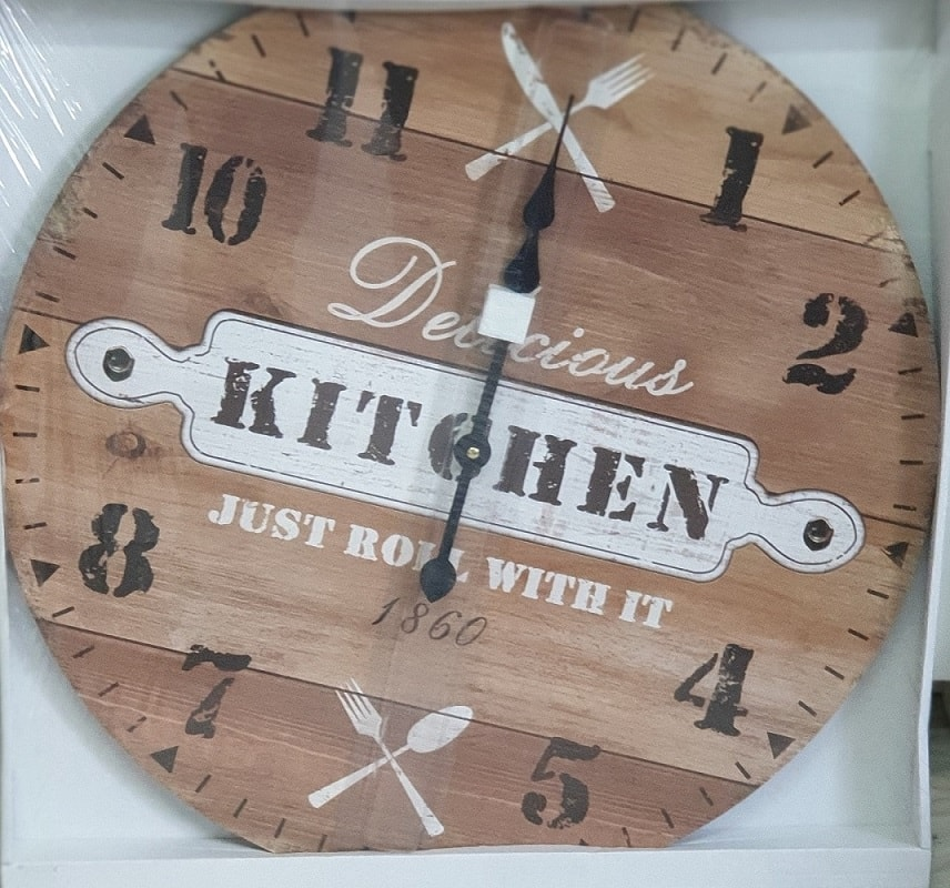 Orologio Da Parete 60 Cm In Legno Kitchen Just Bowl Whit it