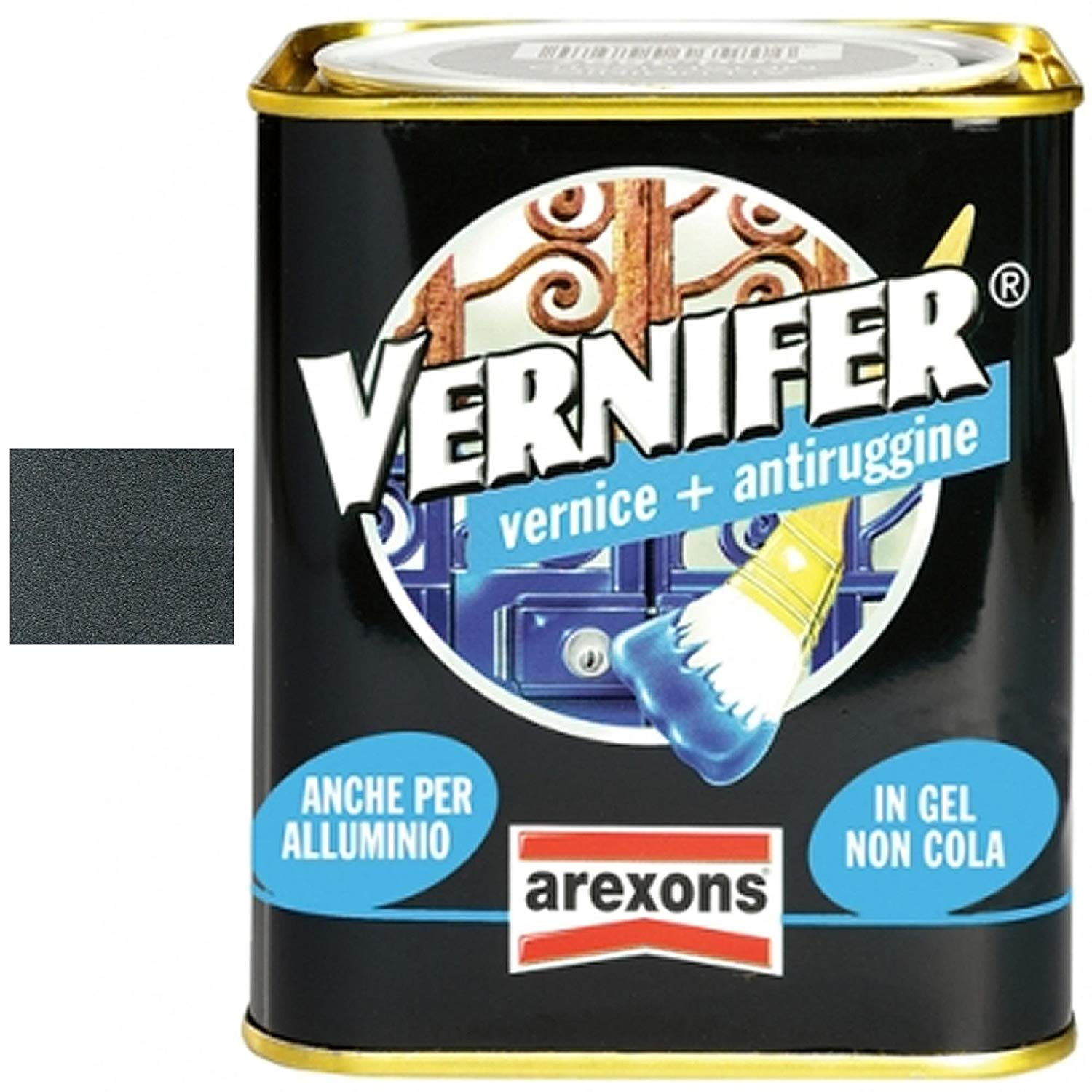 Vernice + Antiruggine Smalto Arexons Vernifer Antracite Antichizzante 750Ml 4888.