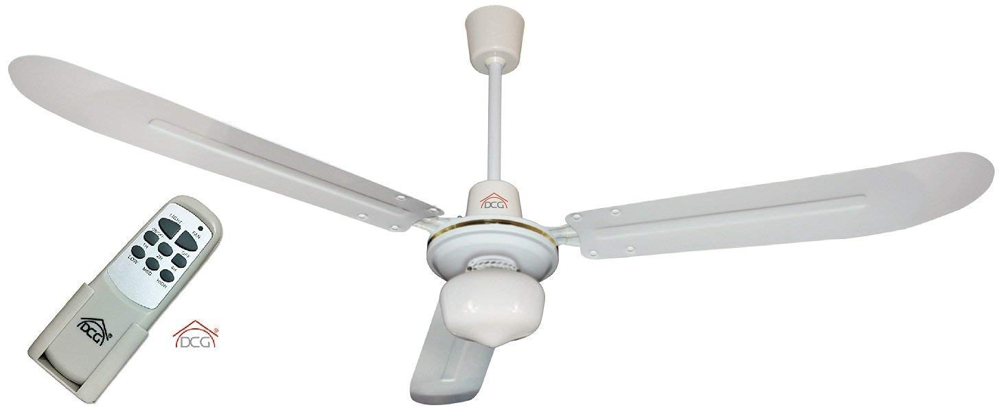 Ventilatore Da Soffitto a 3 Pale In Legno Con Telecomando Light 50W Con 3 Livell.