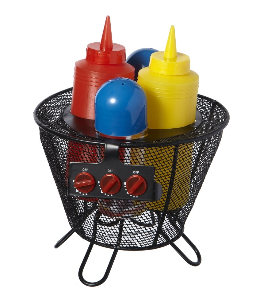 Set 5 Pezzi Condimento BBQ Sale Pepe Ketchup e Maionese Set Salse Barbecue.