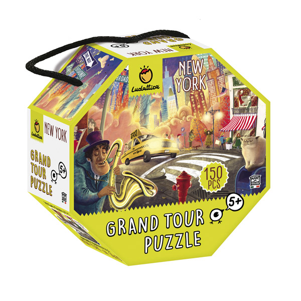 Playset Gioco Ludattica Puzzle in Valigetta Ottagonale Grand Tour New York 150Pz.
