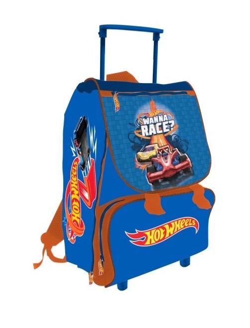 53c4499225 Zaino Trolley Per La Scuola Estensibile 40 CM HotWheels Wanna Race  Elementari. Tap per ingrandire