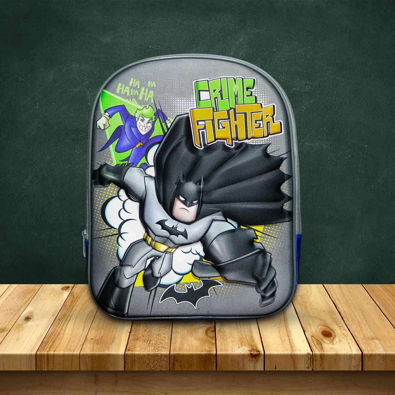 Zaino Zainetto Asilo Scuola Bambino Tempo Libero Batman Con Rilievo in 3D