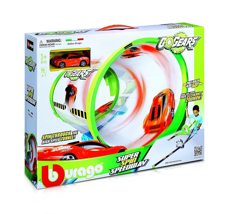 Bburago Pista Go Gears Tunnel Super Spin Speedway Mac Due Con Auto .