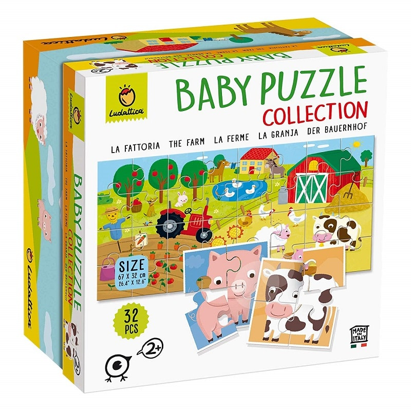 Ludattica Baby Puzzle Collection La Fattoria The Farm 32 PCS 67x32 Cm.