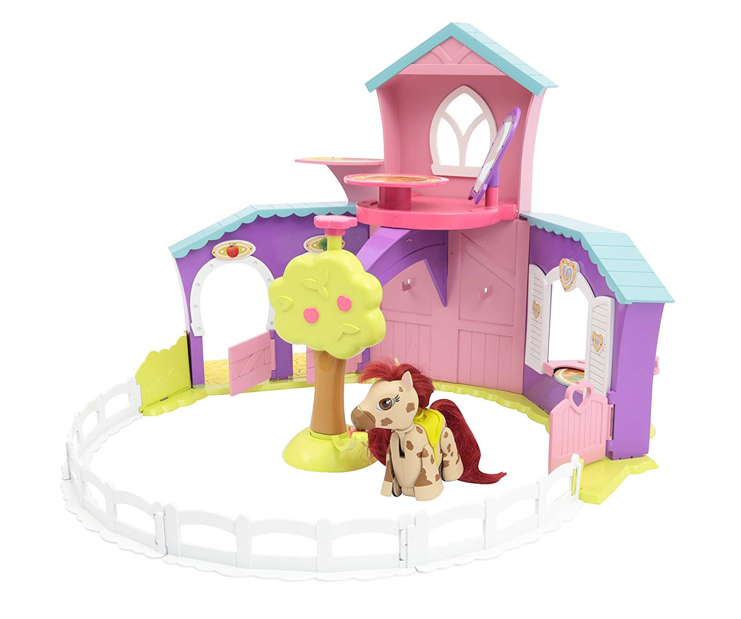 Pet Parade Pony Parade Playset Ranch con Pony Esclusivo e Accessori.