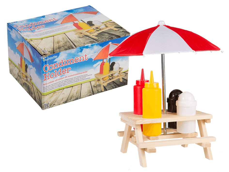 Set Dispenser Condimenti Tavola Salse Maionese e Ketchup BBQ Pic Nic Barbecue.
