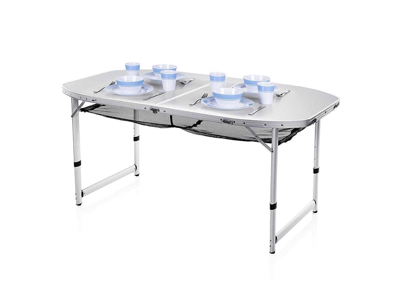 Tavolo da campeggio giardino portatile per camper con piano in