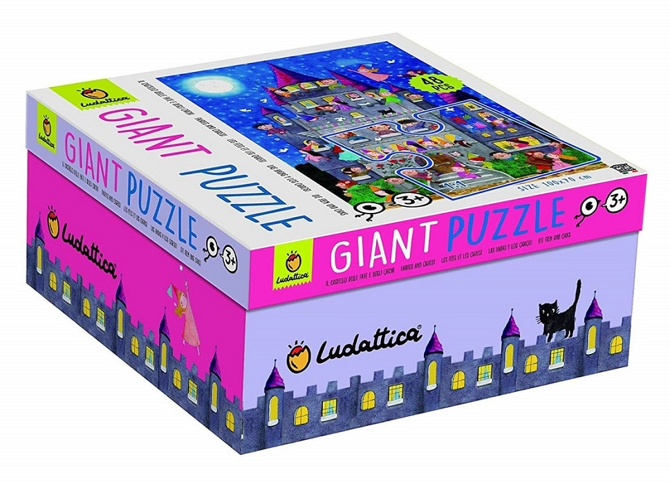 Giant Puzzle Le Fate e Gli Orchi 48 Pz 100 x 70 cm Faires And Ogresi.