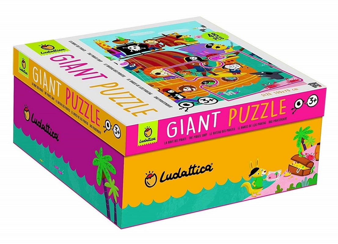 Ludattica Giant Puzzle La Nave Dei Pirati 48 Pz 100 x 70 Cm The Pirate Ship.