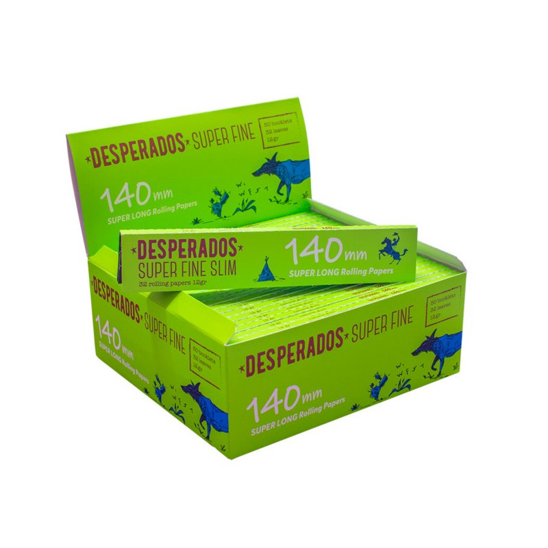 Cartina Desperados Ks Super Fine 140mm 50 Pz 12 Gr Super Long Cartine.