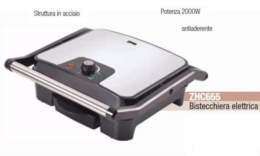 ZEPHIR BISTECCHIERA ELETTRICA acciaio Nero
