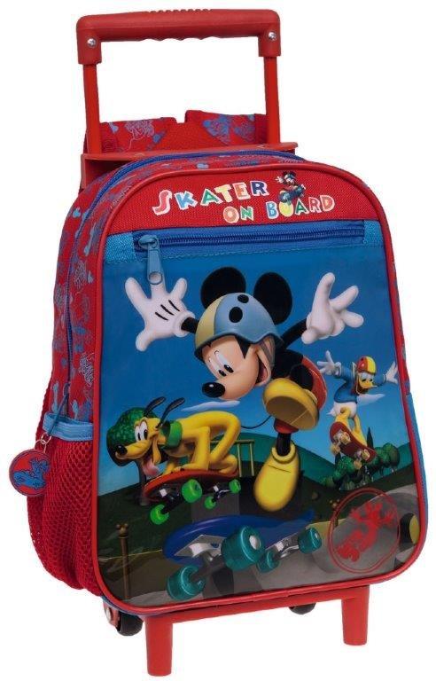 f9b50c7f2c Zaino Cartella Trolley per la Scuola Asilo Materna Topolino Mickey Mouse con  Zip. Tap per ingrandire
