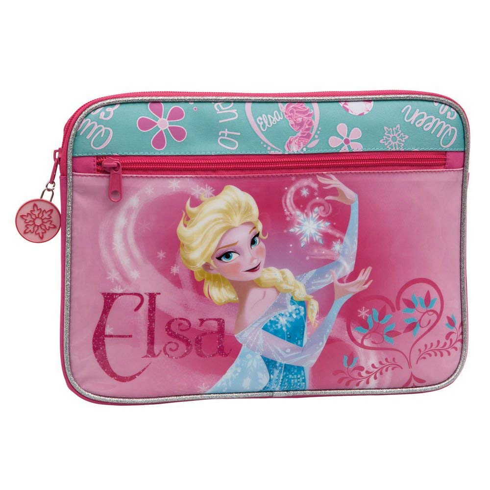 Custodia Astuccio Porta Ipad Tablet Beauty Case con Cerniera Diseny Frozen Elsa.