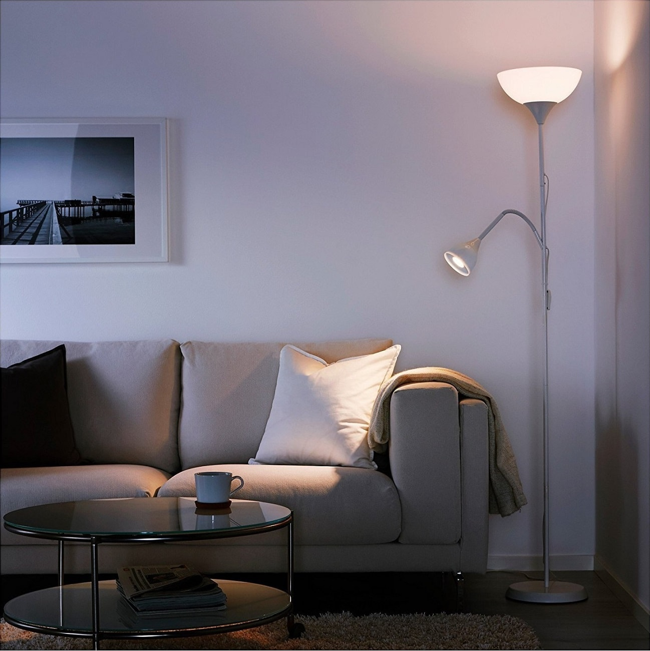Lampada piantana 176 cm con lampada da lettura ikea lgv for Lampada da lettura ikea