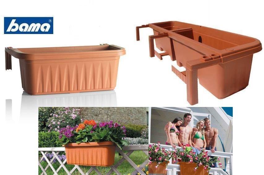 Fioriere In Plastica Per Balconi.Fioriera Balcone Balconiera 60 Cm Terracotta Lgv Shopping