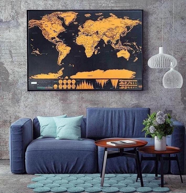 Cartina Mondo Gratta.Mappa Del Mondo Mappamondo Da Grattare Lgv Shopping