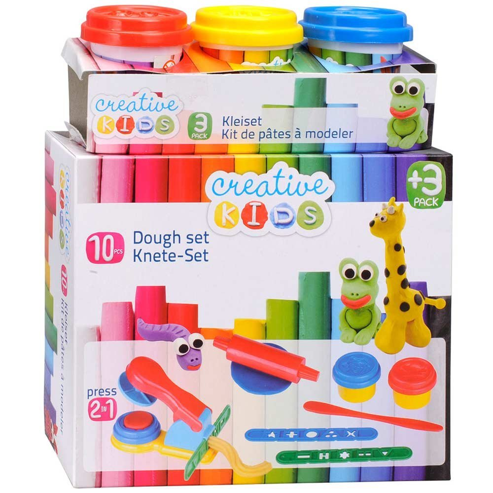 Plastilina Modellante Kit da 10 Pezzi Pasta Plastichina Play Dough con Accessori.