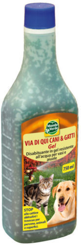 Repellente Disabituante Cani E Gatti Mondo Verde Via Di Qui Gel 750 ML.