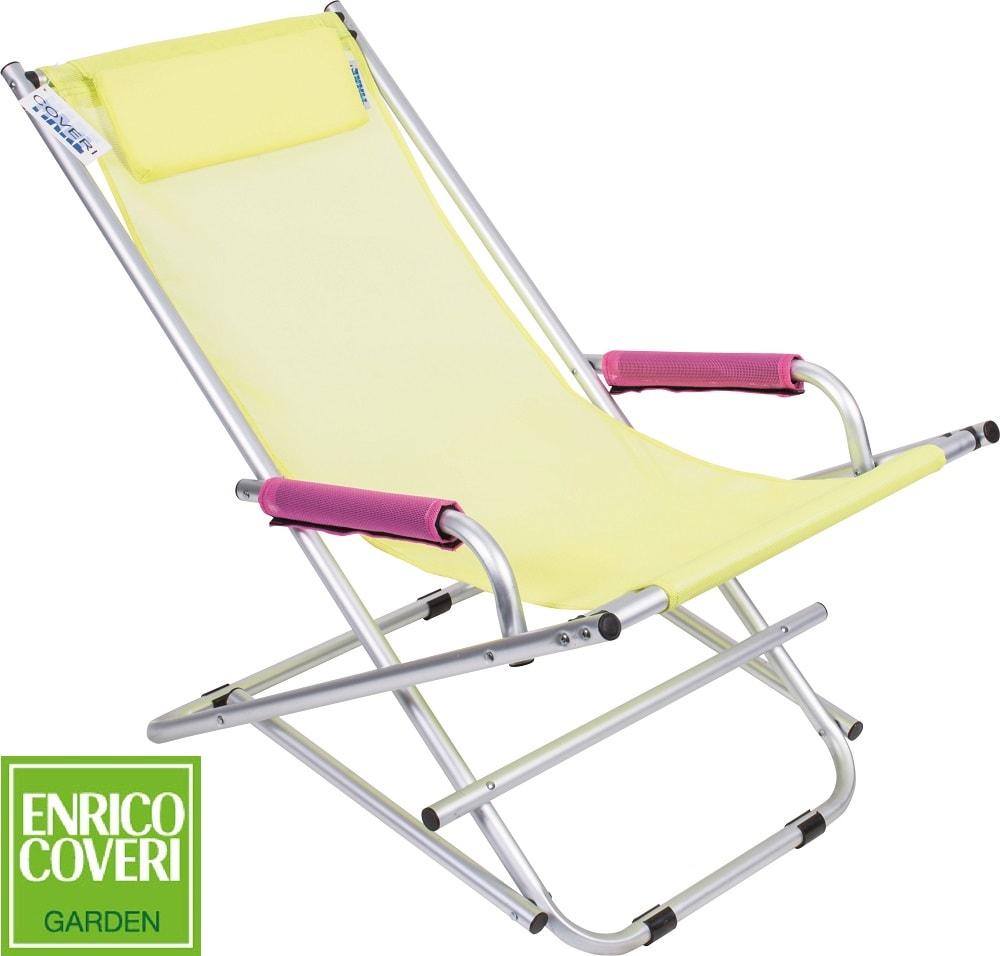 Sedia a Sdraio Dondolina Blu in alluminio Enrico Coveri Mare Spiaggia Piscina