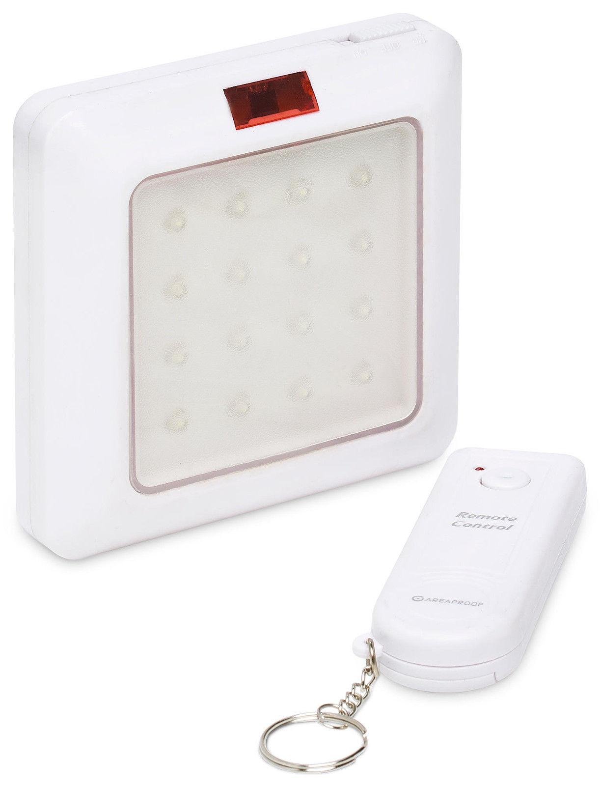 Accensione Lampadario Con Telecomando lampada luce emergenza con 16 led interruttore magnetico con